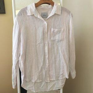 Rails Charli Shirt, Rainbow Metallic Stripe